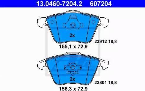 ATE 13.0460-7204.2 - Kit de plaquettes de frein, frein à disque www.widencarpieces.com