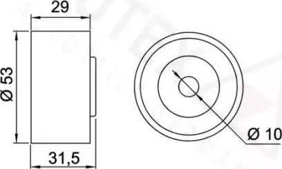 Autex 641944 - Poulie renvoi/transmission, courroie de distribution www.widencarpieces.com