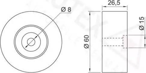Autex 641589 - Poulie renvoi/transmission, courroie trapézoïdale à nervures www.widencarpieces.com