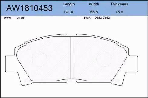 Aywiparts AW1810453 - Kit de plaquettes de frein, frein à disque www.widencarpieces.com