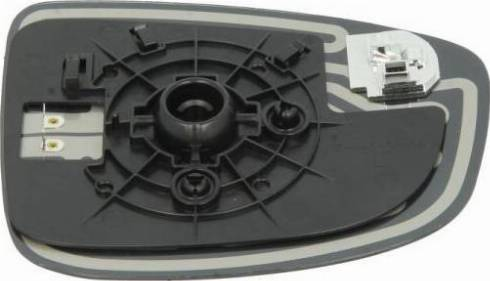 BLIC 6102-14-2001743P - Verre de rétroviseur, rétroviseur extérieur www.widencarpieces.com