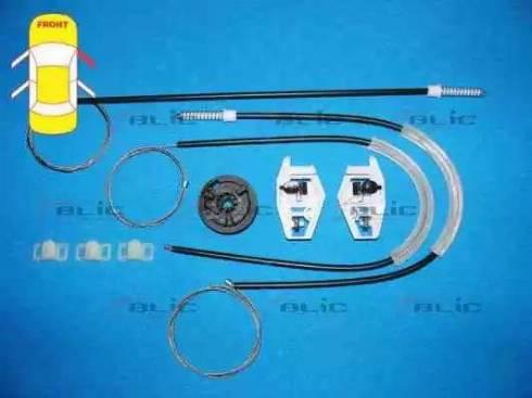 BLIC 6205-09-046802P - Kit de réparation, lève-vitre www.widencarpieces.com