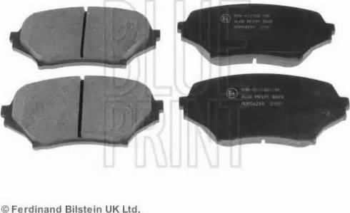 Blue Print ADM54290 - Kit de plaquettes de frein, frein à disque www.widencarpieces.com