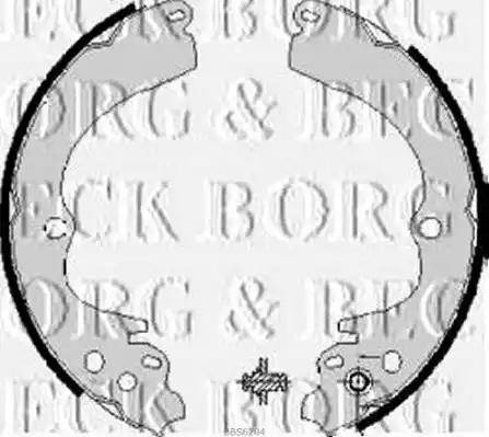 Borg & Beck BBS6204 - Jeu de freins, freins à tambour www.widencarpieces.com