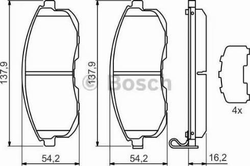 BOSCH 0 986 494 443 - Kit de plaquettes de frein, frein à disque www.widencarpieces.com