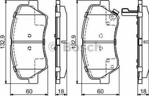 BOSCH 0 986 494 691 - Kit de plaquettes de frein, frein à disque www.widencarpieces.com