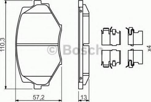 BOSCH 0 986 494 655 - Kit de plaquettes de frein, frein à disque www.widencarpieces.com