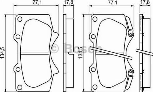 BOSCH 0 986 494 153 - Kit de plaquettes de frein, frein à disque www.widencarpieces.com