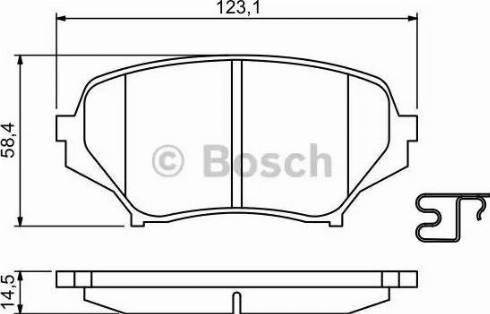 BOSCH 0 986 494 188 - Kit de plaquettes de frein, frein à disque www.widencarpieces.com