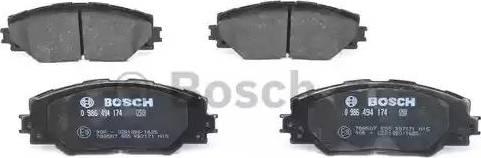 BOSCH 0 986 494 174 - Kit de plaquettes de frein, frein à disque www.widencarpieces.com