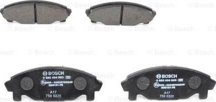 BOSCH 0 986 494 853 - Kit de plaquettes de frein, frein à disque www.widencarpieces.com