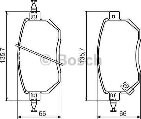BOSCH 0 986 494 366 - Kit de plaquettes de frein, frein à disque www.widencarpieces.com