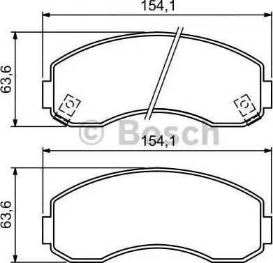 BOSCH 0 986 494 314 - Kit de plaquettes de frein, frein à disque www.widencarpieces.com