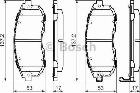 BOSCH 0 986 494 337 - Kit de plaquettes de frein, frein à disque www.widencarpieces.com