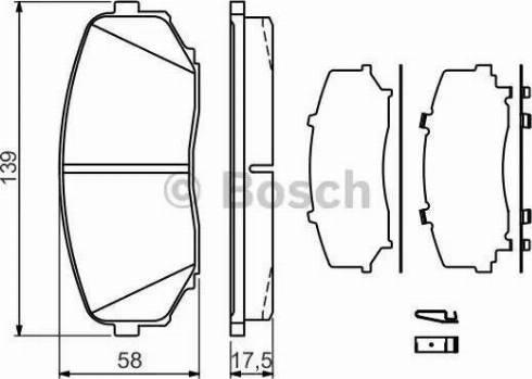 BOSCH 0 986 494 375 - Kit de plaquettes de frein, frein à disque www.widencarpieces.com