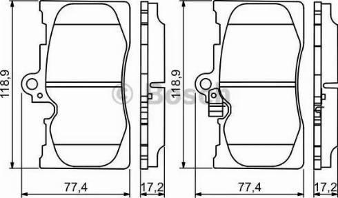 BOSCH 0 986 494 252 - Kit de plaquettes de frein, frein à disque www.widencarpieces.com