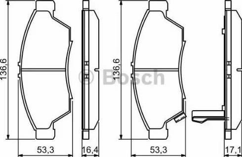 BOSCH 0 986 494 238 - Kit de plaquettes de frein, frein à disque www.widencarpieces.com