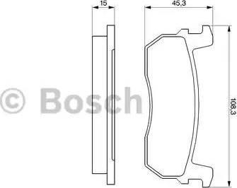 BOSCH 0 986 469 570 - Kit de plaquettes de frein, frein à disque www.widencarpieces.com