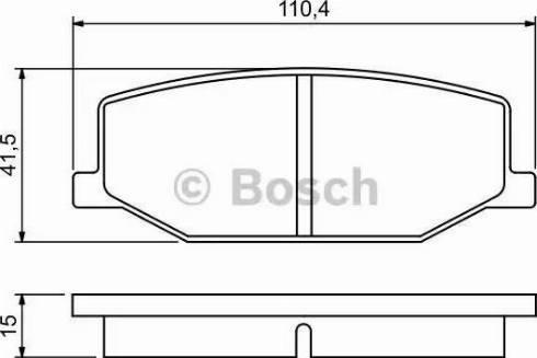 BOSCH 0 986 460 935 - Kit de plaquettes de frein, frein à disque www.widencarpieces.com