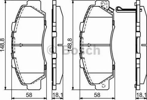 BOSCH 0 986 461 142 - Kit de plaquettes de frein, frein à disque www.widencarpieces.com