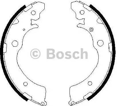 BOSCH 0 986 487 440 - Jeu de freins, freins à tambour www.widencarpieces.com