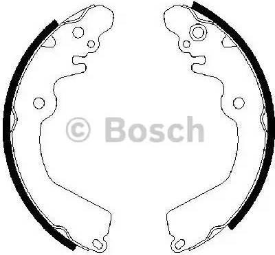 BOSCH 0 986 487 451 - Jeu de freins, freins à tambour www.widencarpieces.com