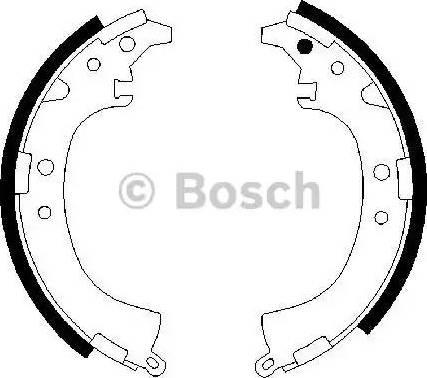 BOSCH 0 986 487 424 - Jeu de freins, freins à tambour www.widencarpieces.com