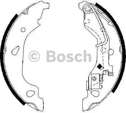 BOSCH 0 986 487 596 - Jeu de freins, freins à tambour www.widencarpieces.com