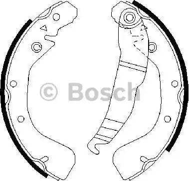 BOSCH 0 986 487 554 - Jeu de freins, freins à tambour www.widencarpieces.com