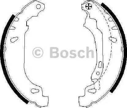 BOSCH 0 986 487 556 - Jeu de freins, freins à tambour www.widencarpieces.com