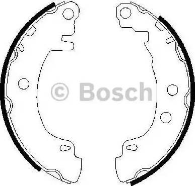 BOSCH 0 986 487 550 - Jeu de freins, freins à tambour www.widencarpieces.com