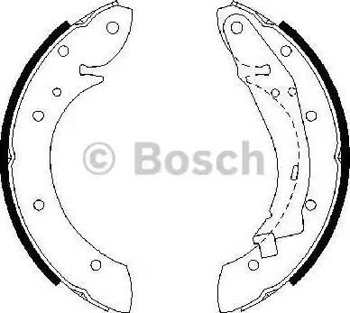 BOSCH 0 986 487 552 - Jeu de freins, freins à tambour www.widencarpieces.com