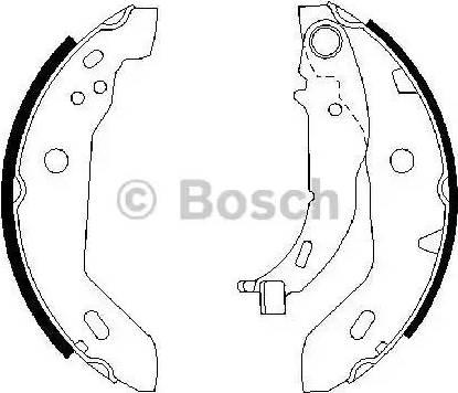 BOSCH 0 986 487 565 - Jeu de freins, freins à tambour www.widencarpieces.com