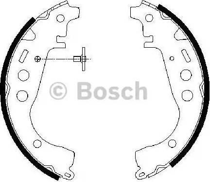 BOSCH 0 986 487 589 - Jeu de freins, freins à tambour www.widencarpieces.com