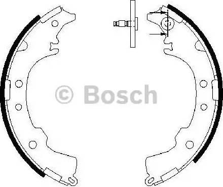 BOSCH 0 986 487 588 - Jeu de freins, freins à tambour www.widencarpieces.com