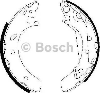 BOSCH 0 986 487 523 - Jeu de freins, freins à tambour www.widencarpieces.com