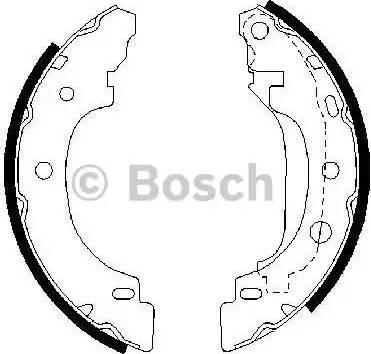 BOSCH 0 986 487 570 - Jeu de freins, freins à tambour www.widencarpieces.com