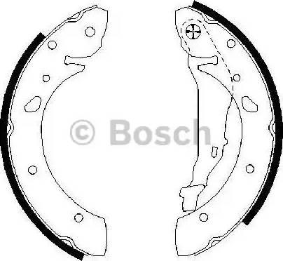 BOSCH 0 986 487 572 - Jeu de freins, freins à tambour www.widencarpieces.com