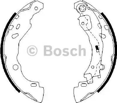 BOSCH 0 986 487 690 - Jeu de freins, freins à tambour www.widencarpieces.com