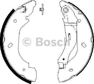 BOSCH 0 986 487 660 - Jeu de freins, freins à tambour www.widencarpieces.com