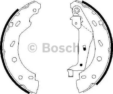 BOSCH 0 986 487 600 - Jeu de freins, freins à tambour www.widencarpieces.com