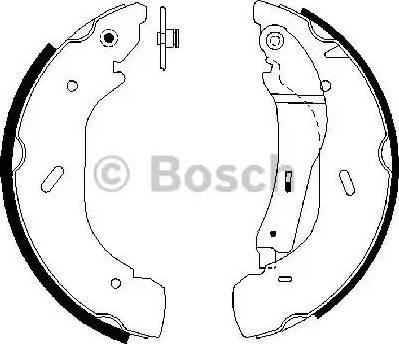 BOSCH 0 986 487 612 - Jeu de freins, freins à tambour www.widencarpieces.com