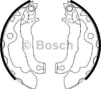 BOSCH 0 986 487 633 - Jeu de freins, freins à tambour www.widencarpieces.com