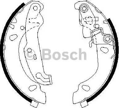 BOSCH 0 986 487 624 - Jeu de freins, freins à tambour www.widencarpieces.com