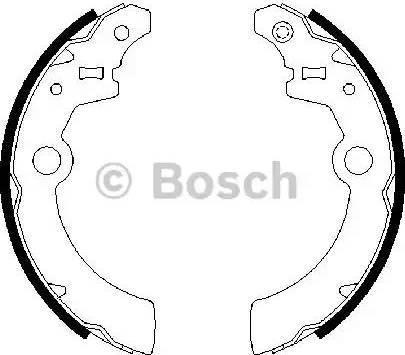 BOSCH 0 986 487 676 - Jeu de freins, freins à tambour www.widencarpieces.com