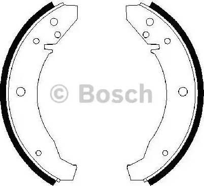 BOSCH 0 986 487 099 - Jeu de freins, freins à tambour www.widencarpieces.com