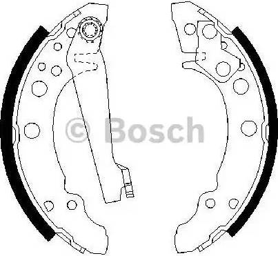 BOSCH 0 986 487 002 - Jeu de freins, freins à tambour www.widencarpieces.com