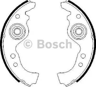 BOSCH 0 986 487 030 - Jeu de freins, freins à tambour www.widencarpieces.com