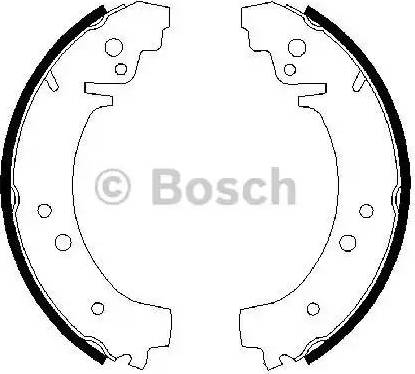BOSCH 0 986 487 217 - Jeu de freins, freins à tambour www.widencarpieces.com