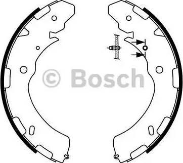 BOSCH 0 986 487 758 - Jeu de freins, freins à tambour www.widencarpieces.com